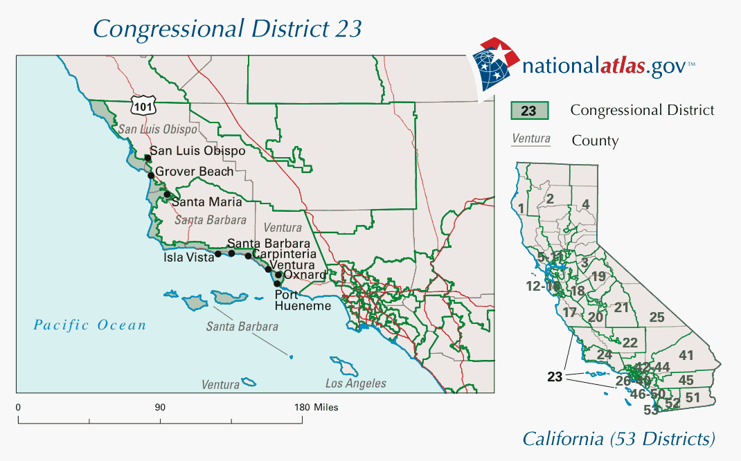 The 23rd congressional district in California from 2003-2013