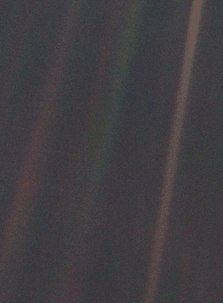 Can you find the pale blue dot?